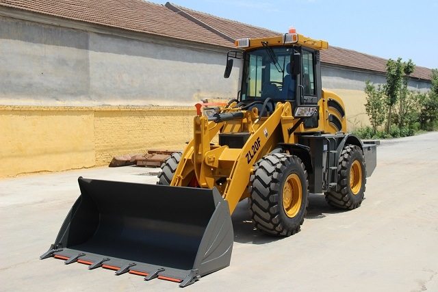 Real 2 Ton Construction Machine Wheel Loader for Sale