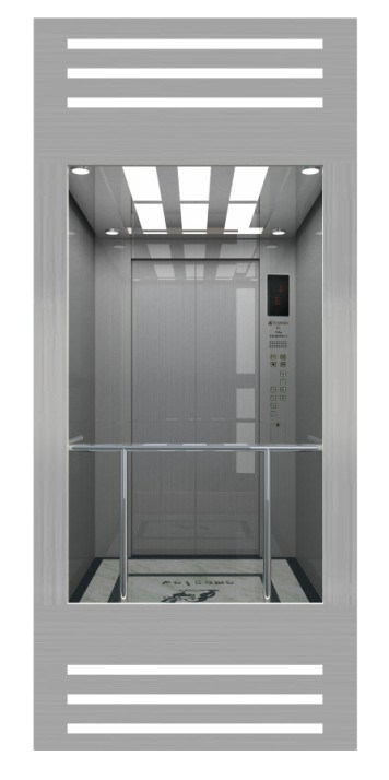 Rear Wall Sightseeing Observation Lift Square Lift