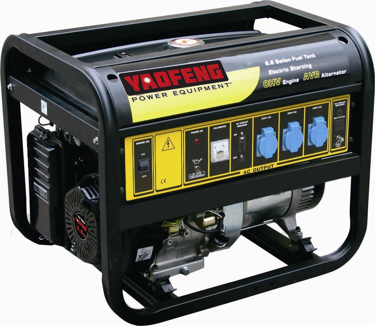 5000 Watts Portable Power Gasoline Generator with EPA, Carb, CE, Soncap Certificate (YFGF6500)