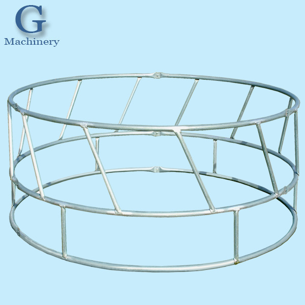 Hay Saver Round Bale/Large Square Bale Cattle Hay Feeder Big Oval Feeders