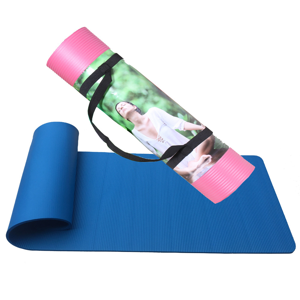 Yoga&Pilate Type Rubber Yoga Mat with Carrying Strap