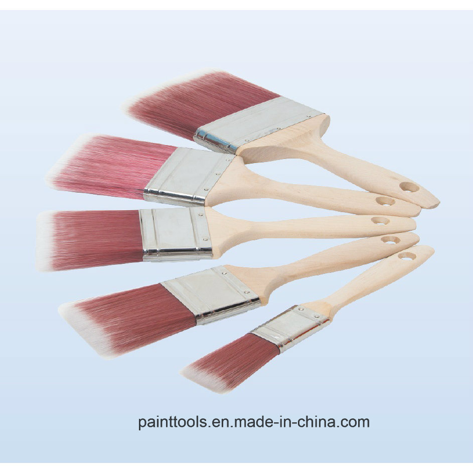 Beavertail Paint Brush with Wood Handle B011