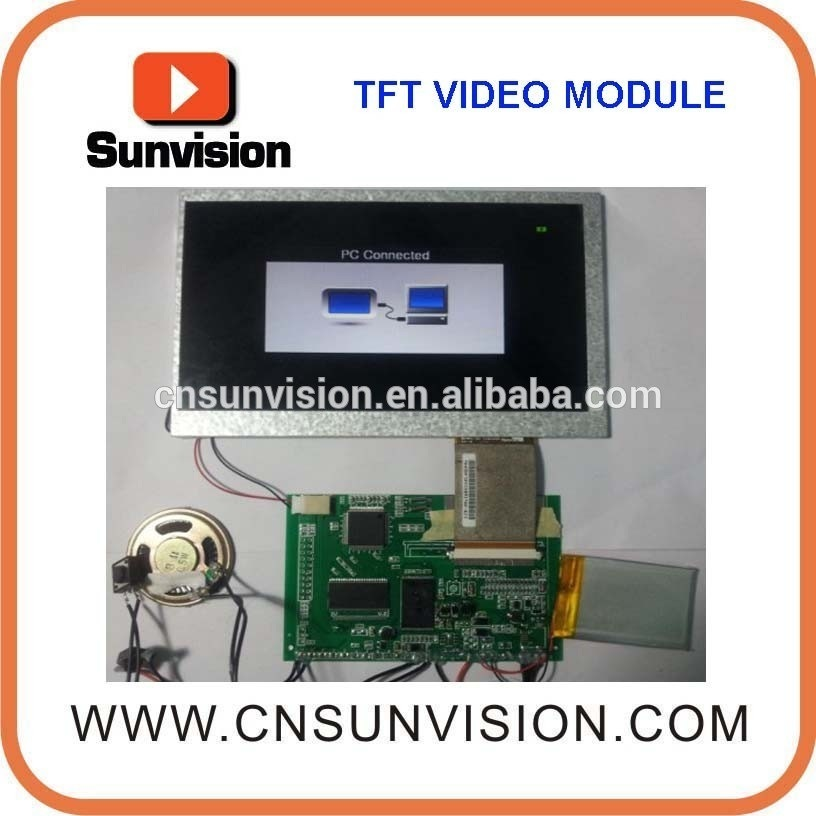 """10.1"""" LCD Screen Video Sound Module with Battery"""