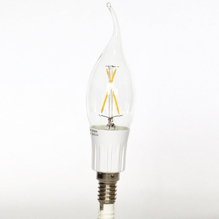 Dimmable 3W 300lm Tailed C35 Filament LED Bulb