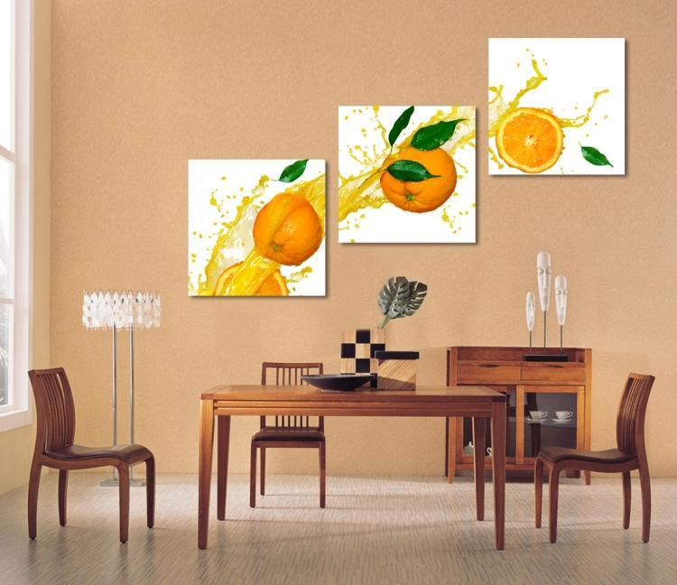 3 Piece Modern Wall Art Printed Painting Fruits Painting Room Decor Framed Art Picture Painted on Canvas Home Decoration Mc-231