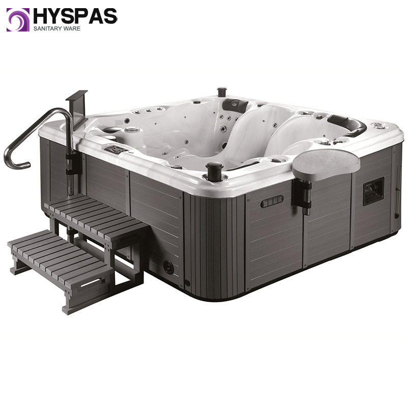 Newest CE Certificated Hyspas Acrylic Whirlpool Outdoor Jacuzzi SPA (HY-6515A)
