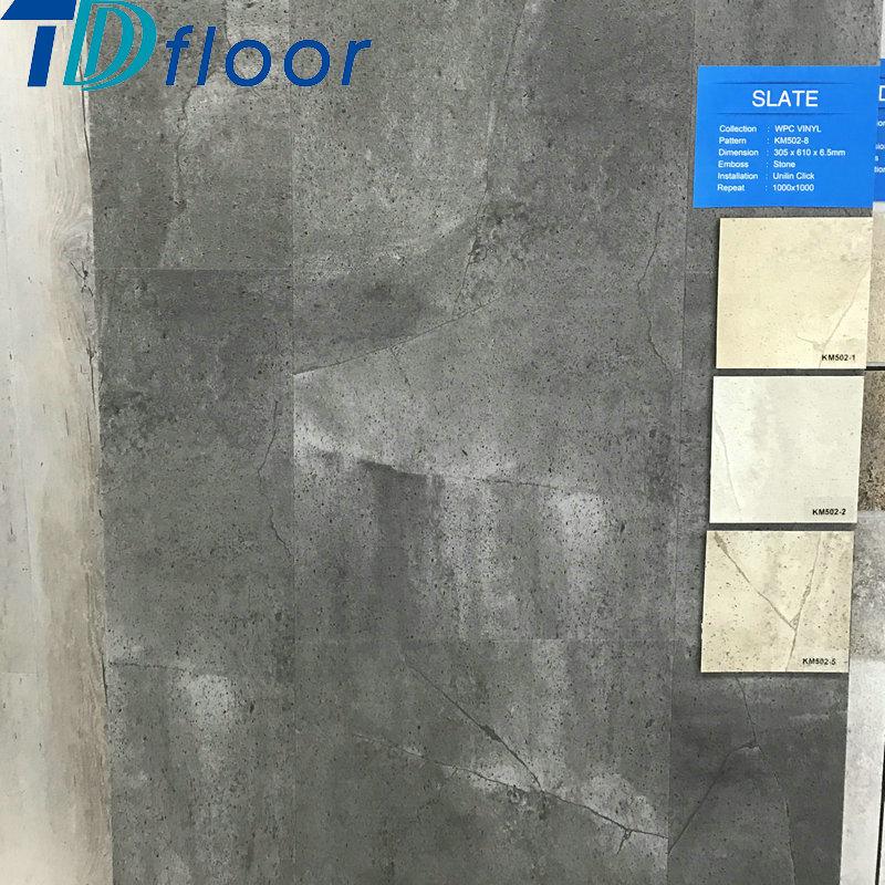 Building Material Indoor Waterproof Stone Pattern Wood Plastic Composite Floor WPC Vinyl Flooring