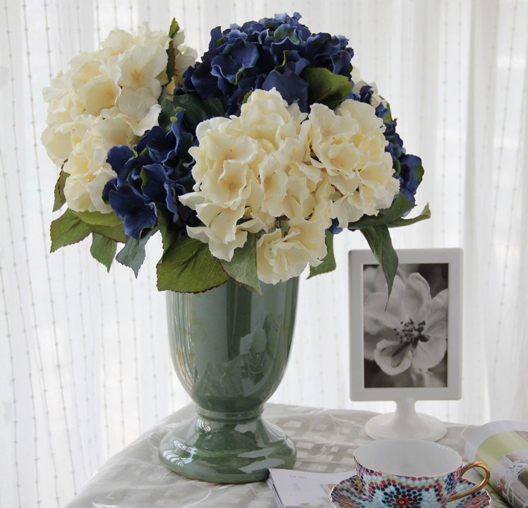 Artificial Faux Home Decor Hydrangea Floral