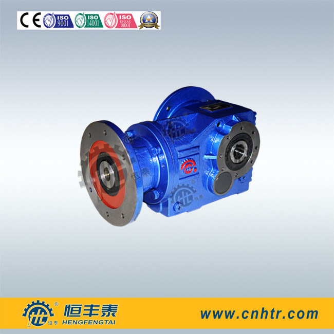 Right Angle Helical Bevel K187 Solid Input Shaft Reducer for Mobile Crusher