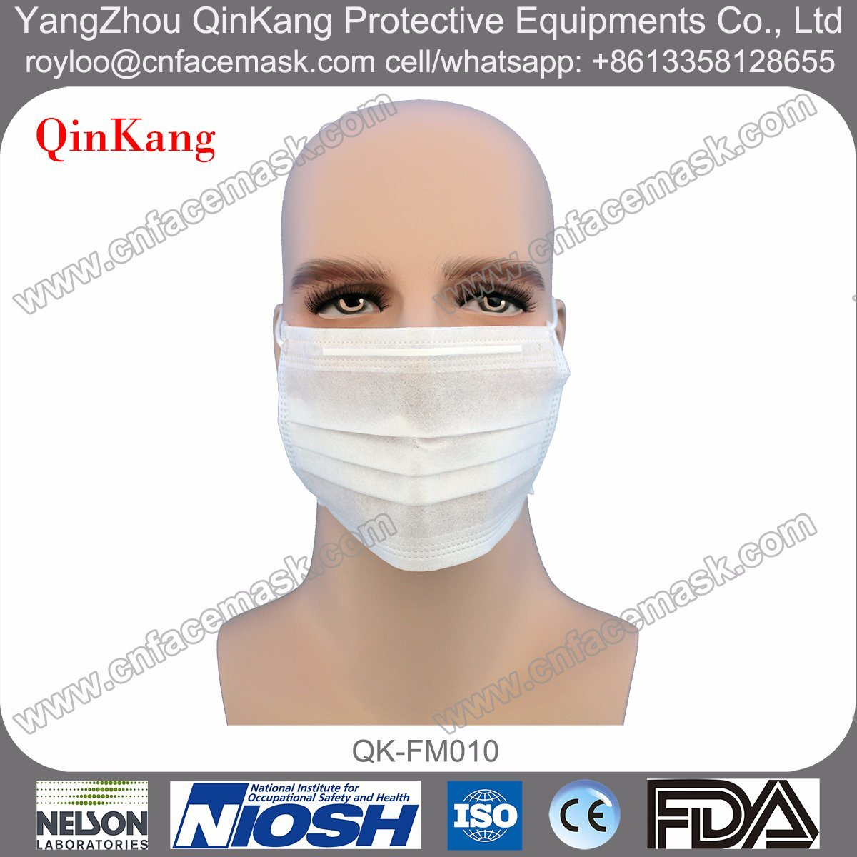Disposable Nonwoven 3ply Headloop Protective Face Mask