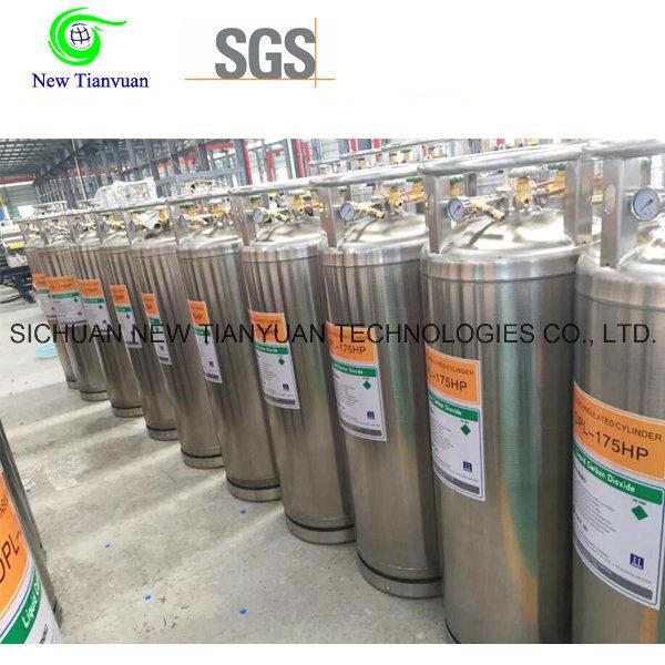 Loading Lco2 175L Volume Cryogenic Liquid Tank Cylinder
