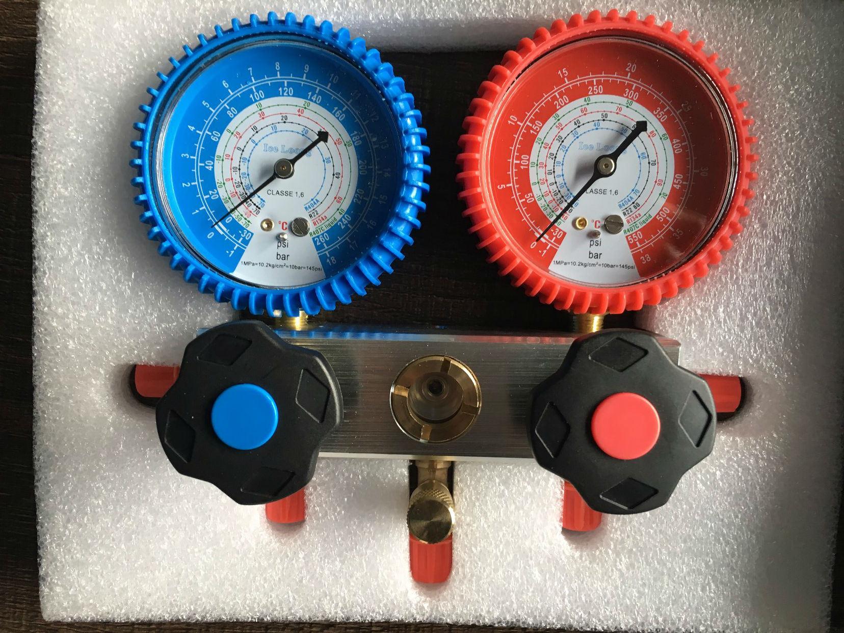 Aluminum Body High Pressure R134A R404A R407c R22 Manifold Gauge