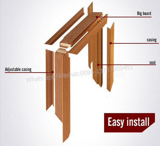Solid Wooden Room Combine Interior Door