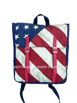 Fashion Flag Canvas Laptop Backpack