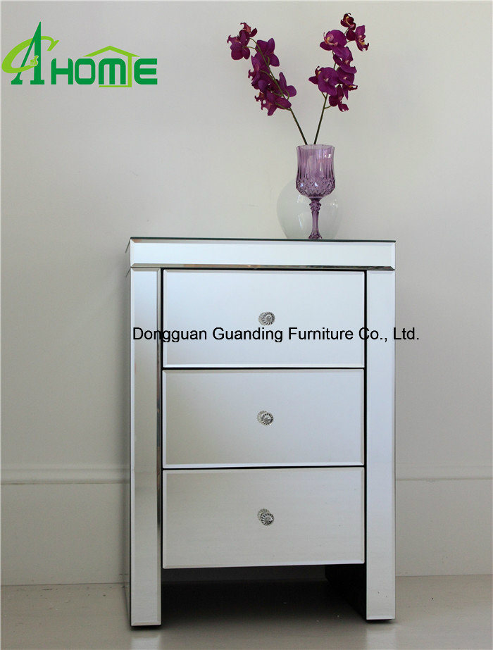 2016 Bedroom Furniture Mirrored Nightstand