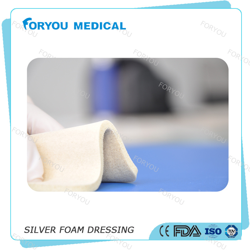 510k Advanced Silver Foam Antibacterial Wound Foam Dressing