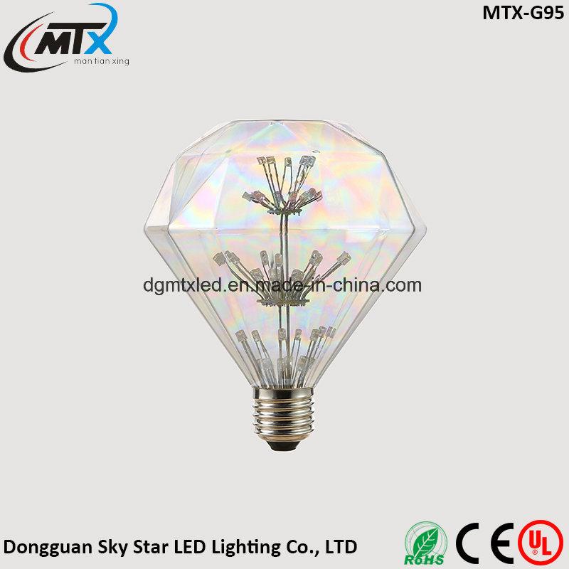 MTX LED light bulb G95 Globose LED bulb The Edison Bulb Creative Personality Design Decorative Light Bulb 220V Warm Yellow 2200K