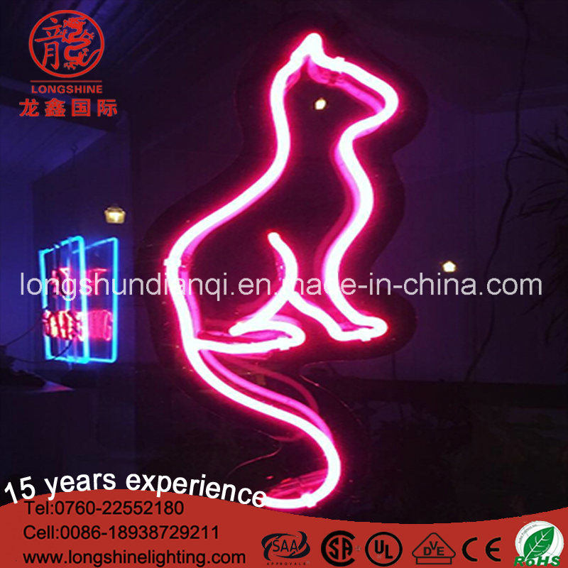 LED New Cat Real Glass Neon Light Sign Home Beer Bar Pub Garage Wall