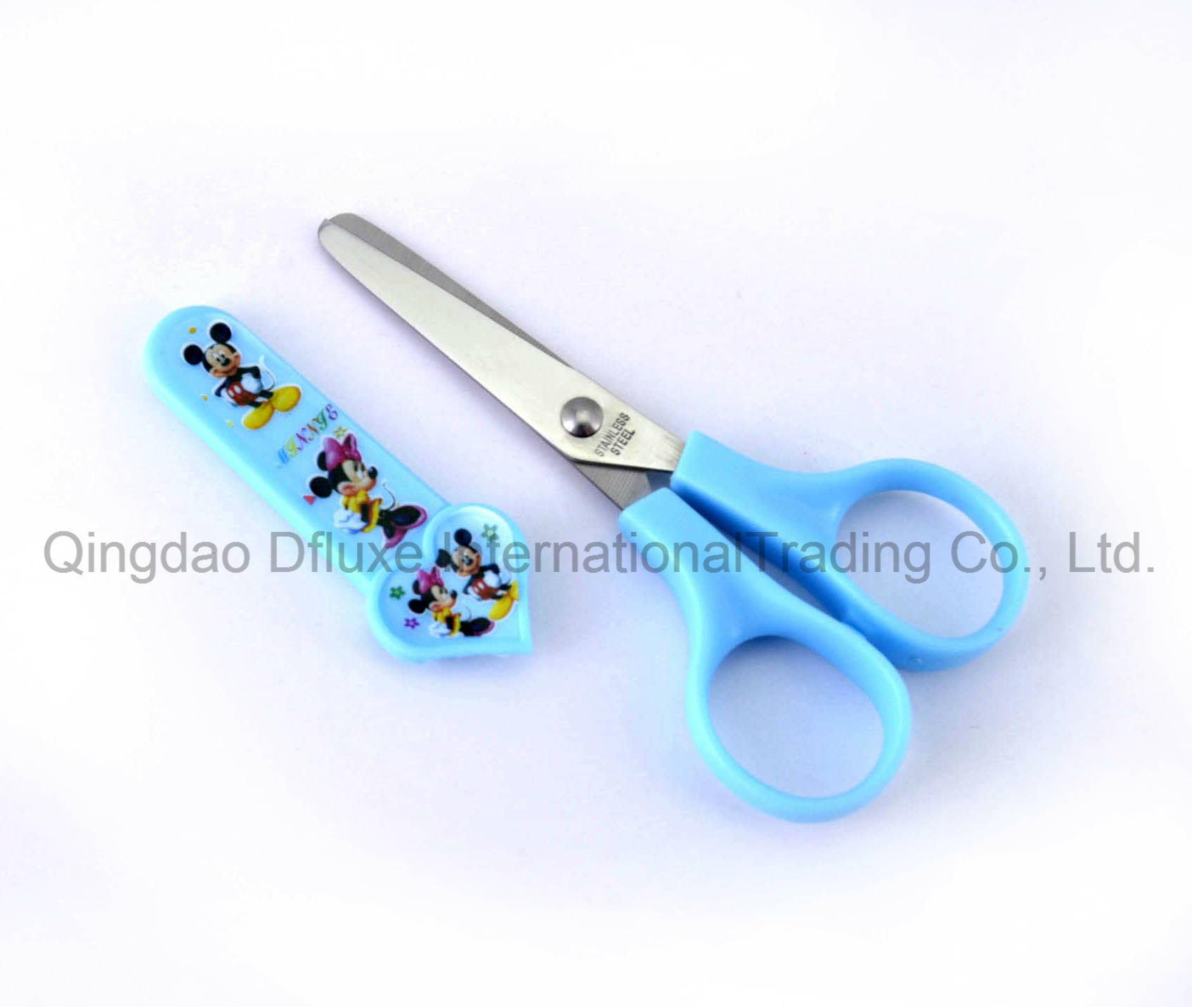 Paper Cutting Children Scissors with Cap Fine Polished