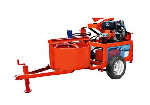 Qts1-20m Mobile Diesel Hydraform Interlocking Soil Clay Brick Machine