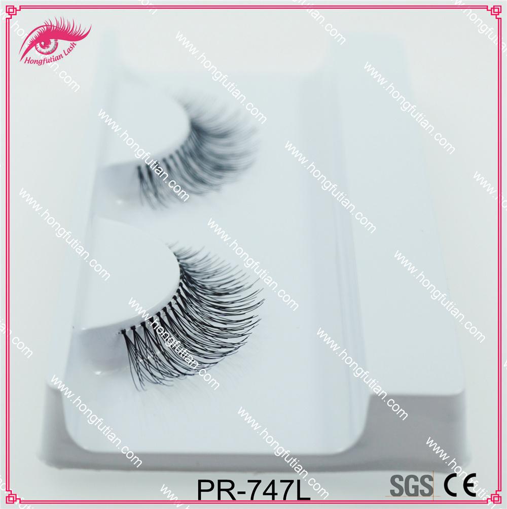 Private Label Human Hair False Eyelash 747 Style Own Brand Eyelashes