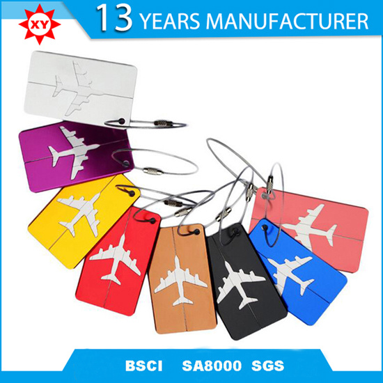 Metal Aluminum Customer Travel Luggage Tag