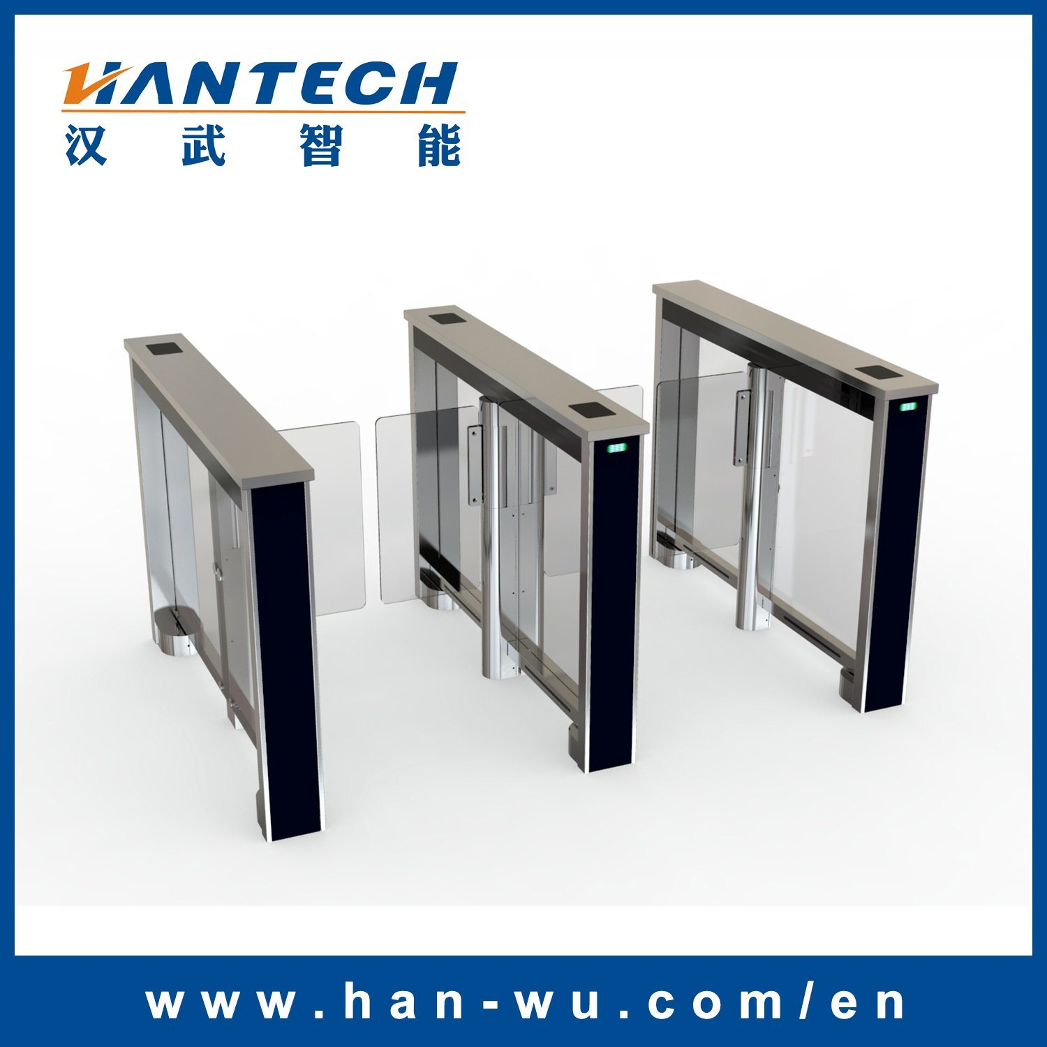 Entry Control System Gym Turnstile Speed Gate