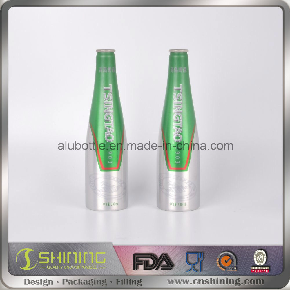 Aluminum Beer Bottle with Crown Cap