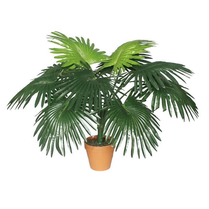Mini Artificial Fan Palm Bush with High Quality