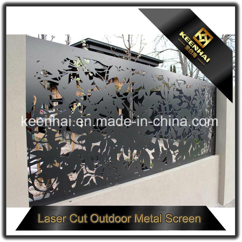 Exterior Laser Cut Perforated Aluminum Sheet Metal Fence Panel