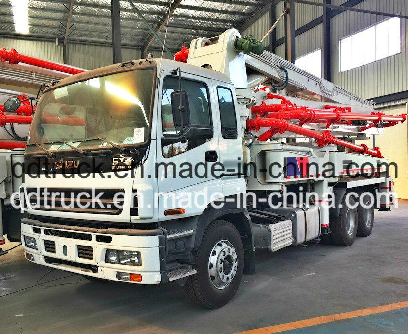 37M truck mounted concrete pump, ISUZU Concrete Pump Truck