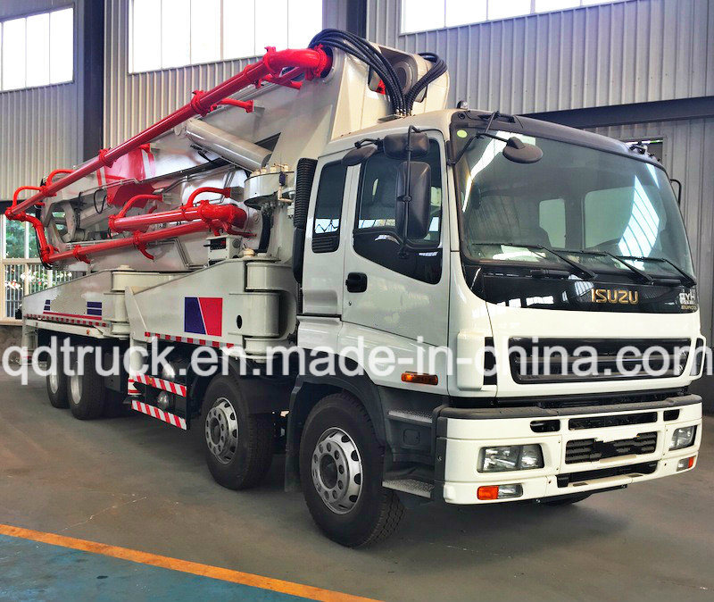 37M truck mounted concrete pump, ISUZU Concrete Pump Truck