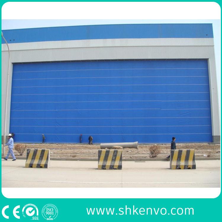 PVC Fabric Lifting Folding up Blasting Room Mega Door