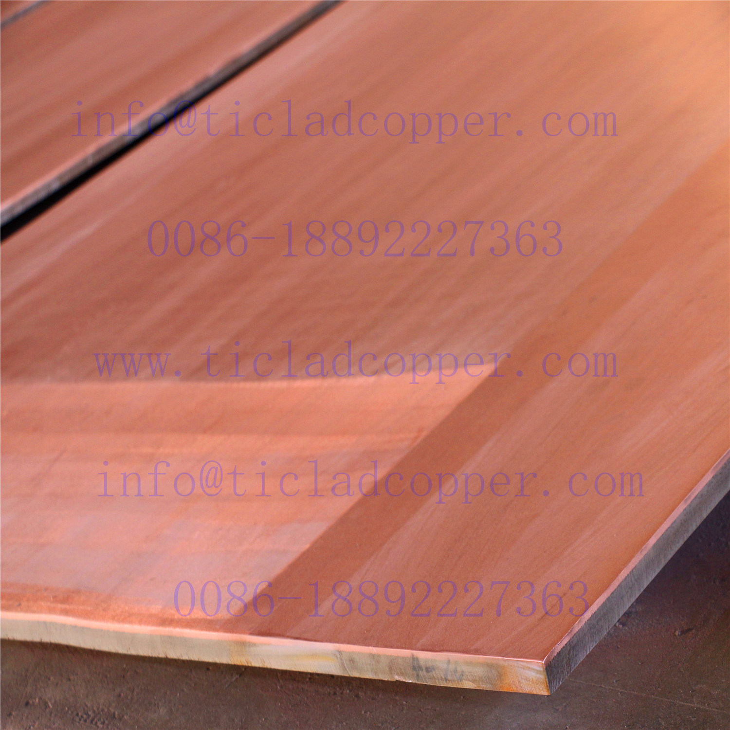 Metallurgical Bond/Explosion Bonding Titanium Clad Copper Sheet/Plates