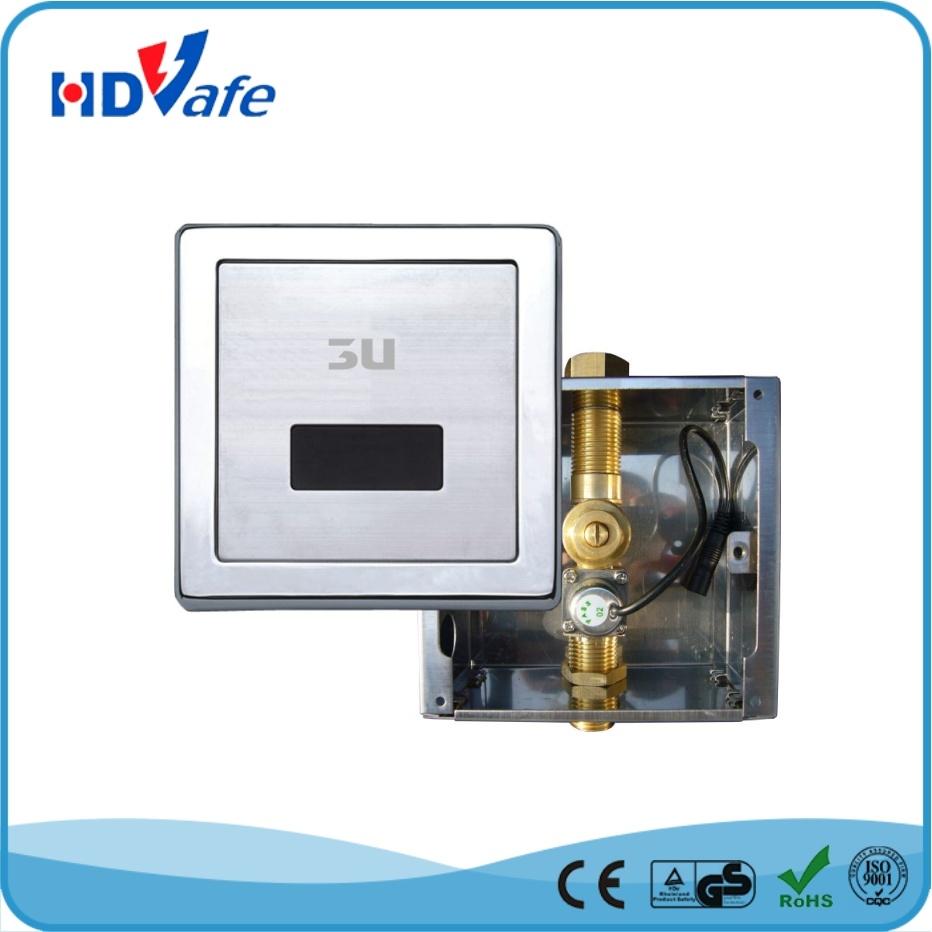 Sanitaryware Toilet Accessories Bathroom Man Urine Automatic Sensor Urinal with Flush Valve
