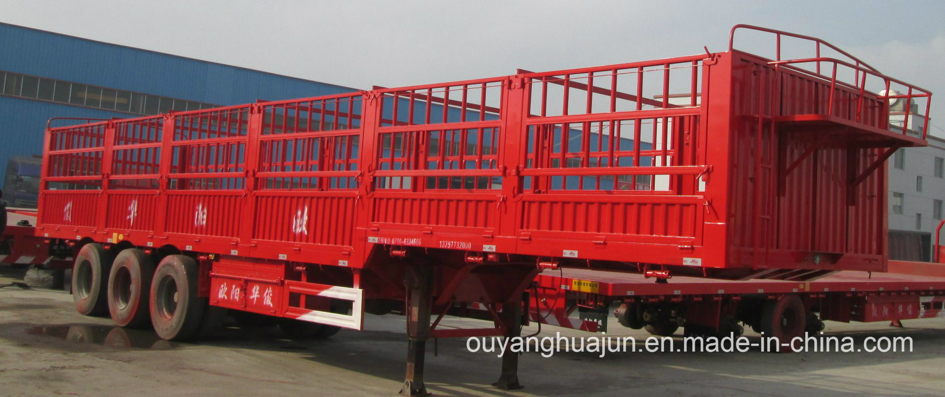 Stake Semitrailer with Short Locks