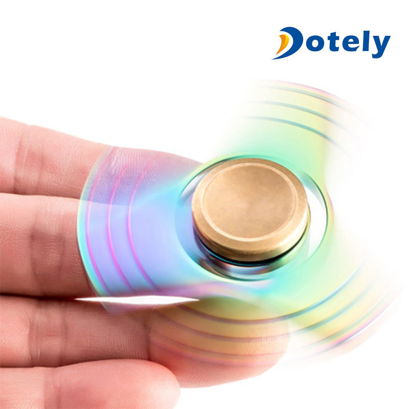 Anti-Stress Toy Colorful Triangle Fidget Metal Spinner