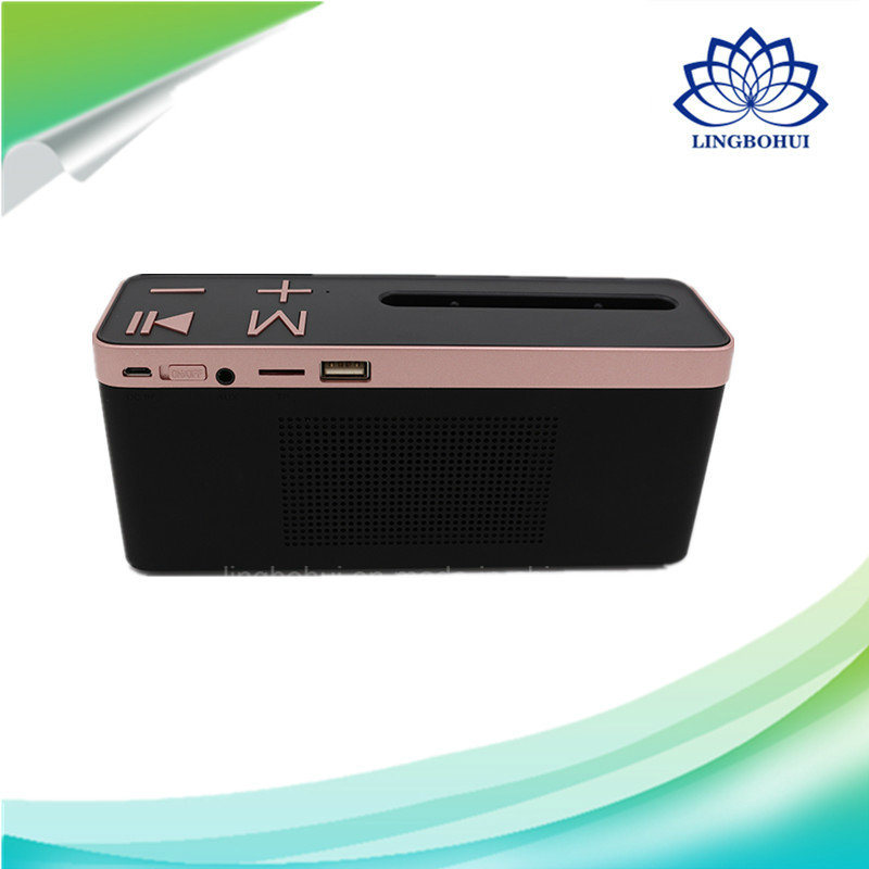 Bt-27 ABS Shell Phone Holder Mini Audio Bluetooth Loudspeaker