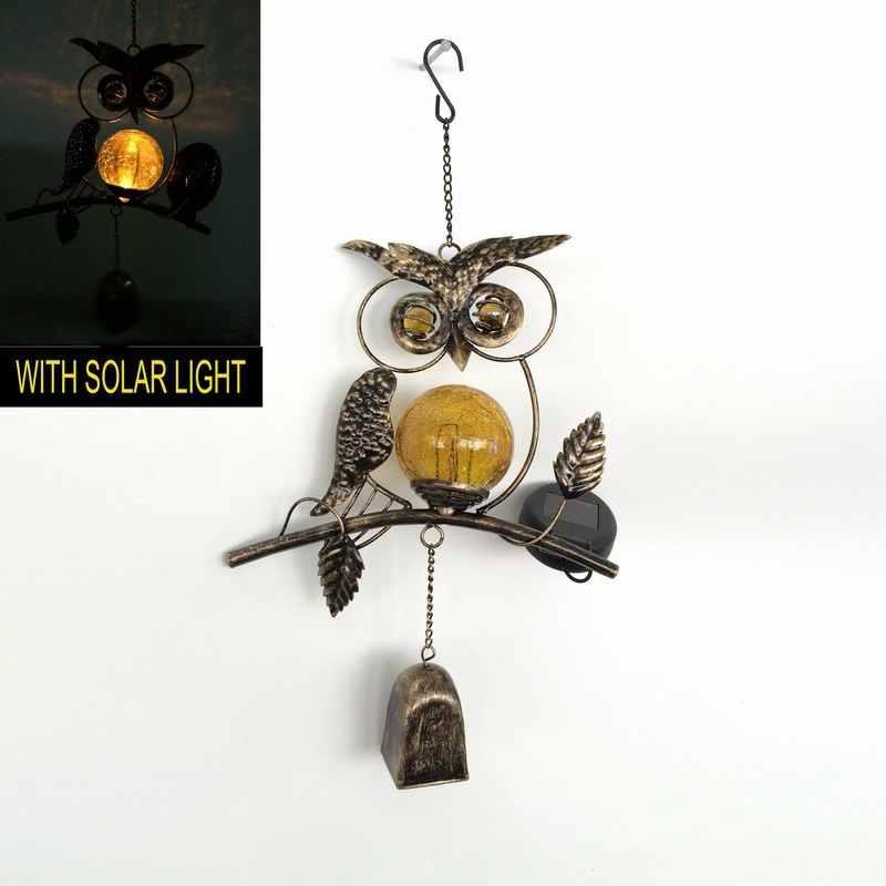 Metal Butterfly W. Glass Ball Solar Light Garden Craft