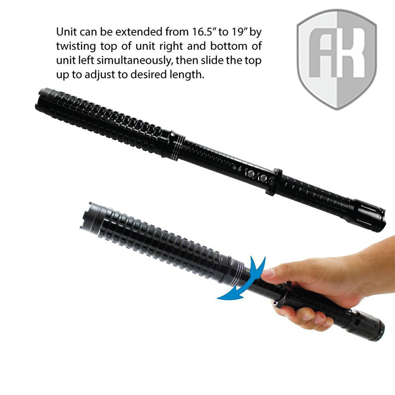Expandable LED Stun Gun Baton