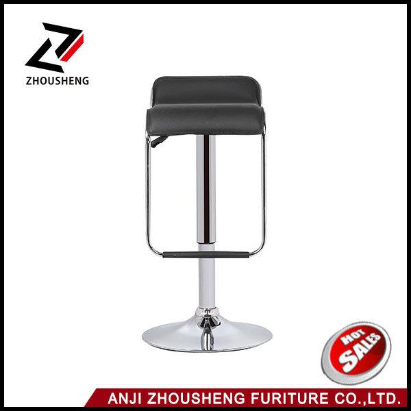 2016 Hot Sale Balck PVC Bar Stool Bar Chair From Anji Zhejiang