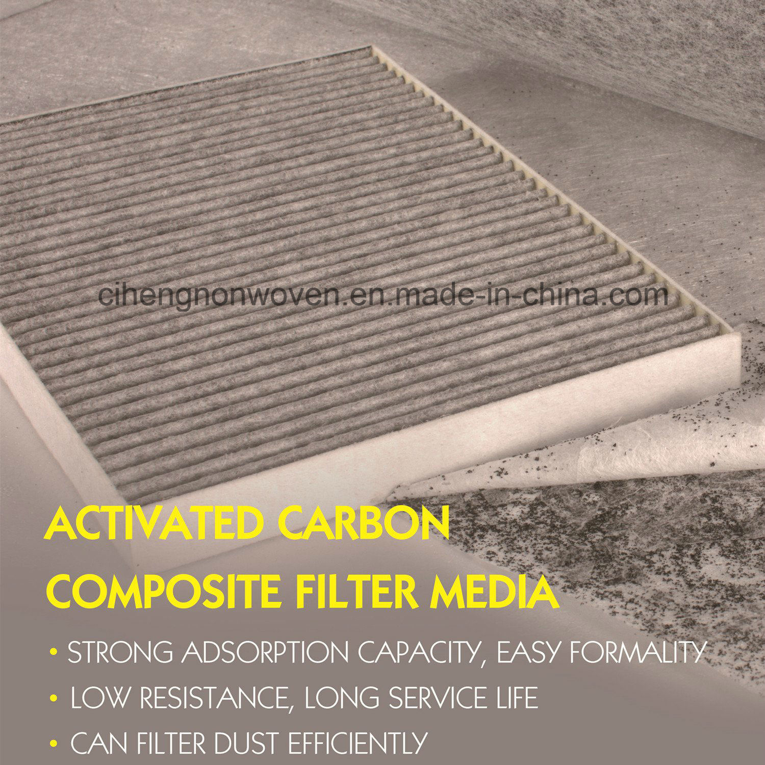 97% Efficiency Auto Cabin Air Filter Media