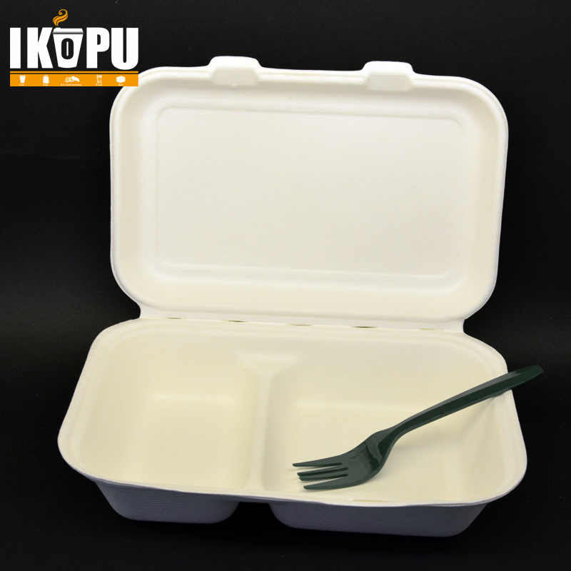 Compostable Biodegradable Disposable Raw Pulp Paper Lunch Box