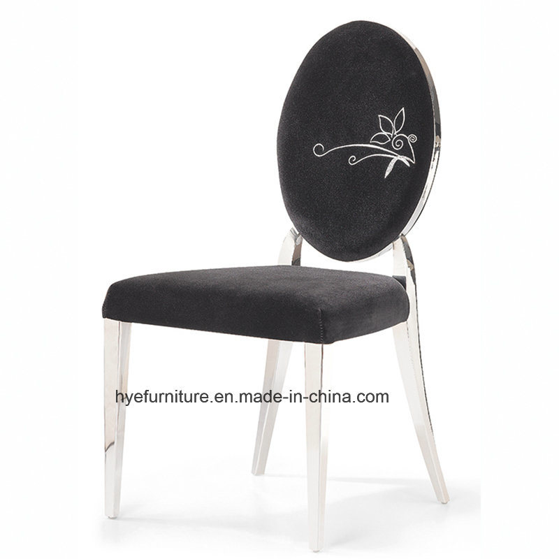 Modern Fabric Dining Furniture Metal Dining Chair (D03)
