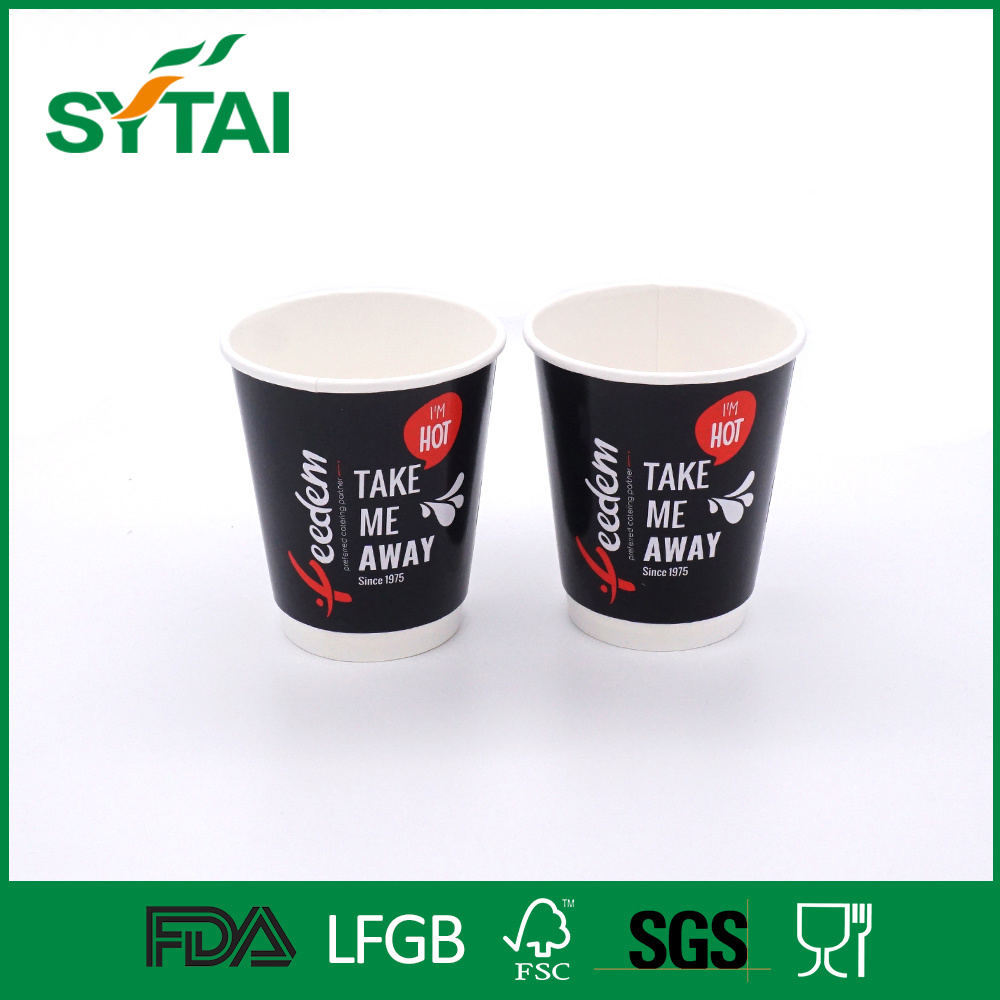 12oz Good Printing PE Coated Disposable Double Wall Paper Cup