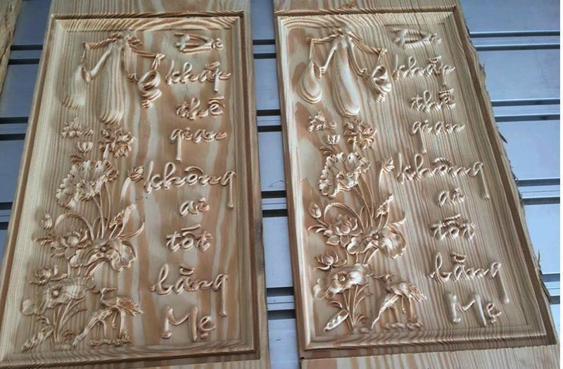 Wood, MDF, Acrylic, Aluminum, CNC Router Woodworking for Advertising Industry