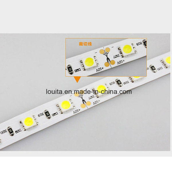 Safe Wearable Double Sided IP65 12V 60LEDs/M 5050 LED Strip