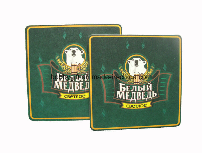 Souvenir Cardboard Cotton Paper Drink Cup Coaster for Promotional