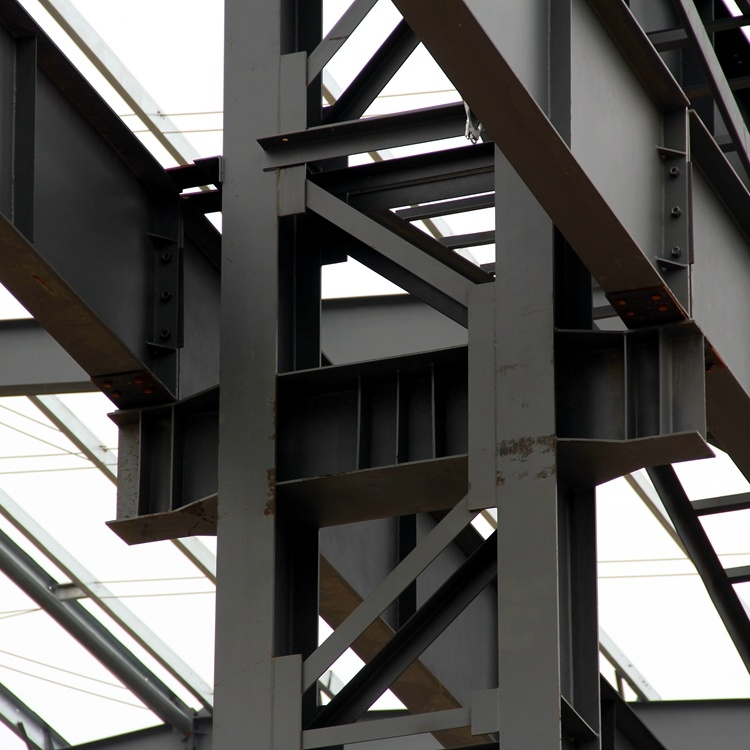 Heavy Steel Structure with 50 Tons Crane