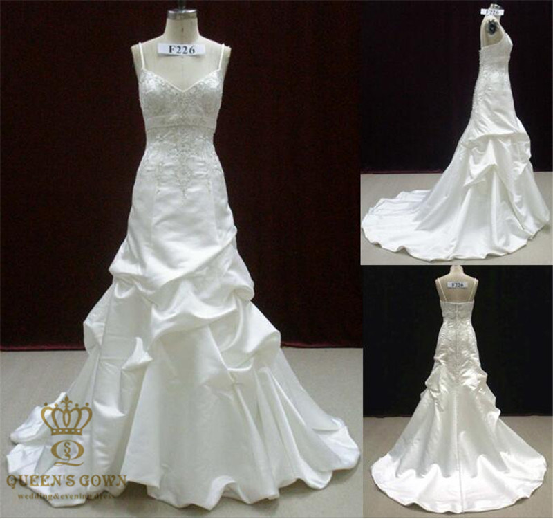 White Beading Lace Wedding Dress/Bridal Gown for Wedding